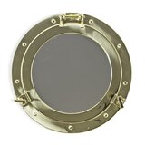 damato-porthole-accent-mirror 100+ Porthole Themed Mirrors For Nautical Homes For 2020