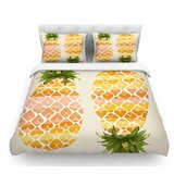 happy-pineapples-by-judith-loske-featherweight-duvet-cover 50+ Pineapple Bedding Sets, Quilts, and Duvet Covers