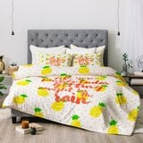 hello-sayang-pineapple-pina-coladas-comforter 50+ Pineapple Bedding Sets, Quilts, and Duvet Covers