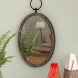 lanford-oval-metal-accent-mirror Porthole Themed Mirrors