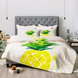 laura-trevey-pineapple-sunshine-comforter 50+ Pineapple Bedding Sets, Quilts, and Duvet Covers For 2020