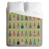 pineapple-party-lightweight-duvet-cover 50+ Pineapple Bedding Sets, Quilts, and Duvet Covers