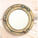 tia-porthole-industrial-beveled-frameless-distressed-accent-mirror 100+ Porthole Themed Mirrors For Nautical Homes For 2020