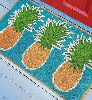 Pineapple Doormats and Pineapple Floor Mats