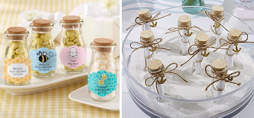 mini glass cork bottles