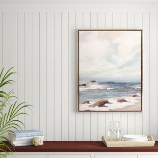 27StormyShore27FramedGraphicArtPrintonCanvas Beach Paintings & Coastal Paintings