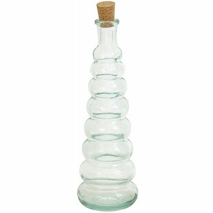 4.1ozORecycledGlassBottleWithCorkDecorativeBottle Large & Small Glass Bottles With Cork Toppers