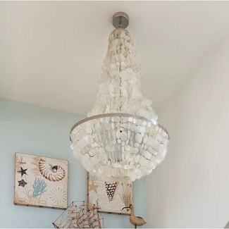 Bette-3-Light-Unique-Statement-Empire-Chandelier Beach Chandeliers & Coastal Chandeliers