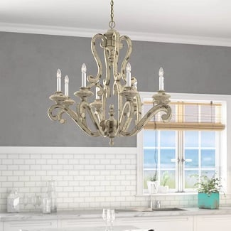 Clarksburg-8-Light-Candle-Style-Classic-Traditional-Chandelier 150+ Beach Chandeliers & Coastal Chandeliers