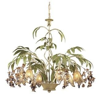 Evelyne-6-Light-Shaded-Classic-Traditional-Chandelier Beach Chandeliers & Coastal Chandeliers