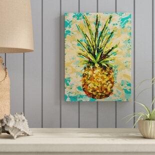 FiestaPineapple-WrappedCanvasPrintonCanvas Beach Paintings & Coastal Paintings