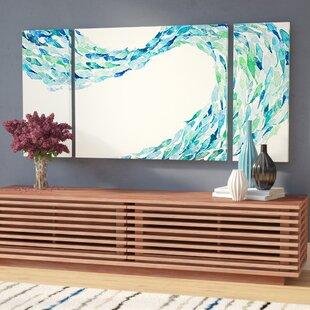 FlowbyNormanWyattJr.-3PieceWrappedCanvasPrintSet Beach Paintings & Coastal Paintings