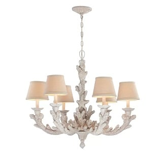 Gigi-6-Light-Shaded-Classic-Traditional-Chandelier Beach Chandeliers & Coastal Chandeliers