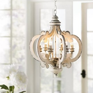 Jarman-6-Light-Candle-Style-Geometric-Chandelier Beach Chandeliers & Coastal Chandeliers