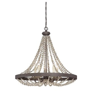 Ladonna-5-Light-Crystal-Empire-Chandelier-with-Beaded-Accents 150+ Beach Chandeliers & Coastal Chandeliers