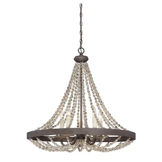 Ladonna-5-Light-Crystal-Empire-Chandelier-with-Beaded-Accents Beach Chandeliers & Coastal Chandeliers