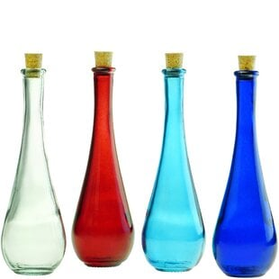 LudgershallDropRecycledwithCorkDecorativeBottle Large & Small Glass Bottles With Cork Toppers