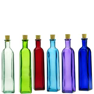 LutterworthRectanglewithCorkDecorativeBottle Large & Small Glass Bottles With Cork Toppers