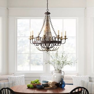 Mallory-8-Light-Candle-Style-Empire-Chandelier 150+ Beach Chandeliers & Coastal Chandeliers