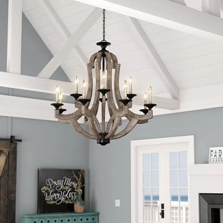 Marcoux-12-Light-Candle-Style-Empire-Chandelier Beach Chandeliers & Coastal Chandeliers