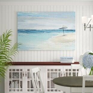 ParadiseShorebyParvezTaj-WrappedCanvasPaintingPrint Beach Paintings & Coastal Paintings