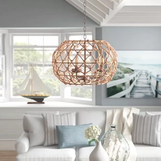 Statement-Globe-Chandelier Beach Chandeliers & Coastal Chandeliers