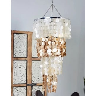 Statement-Tiered-Chandelier Beach Chandeliers & Coastal Chandeliers