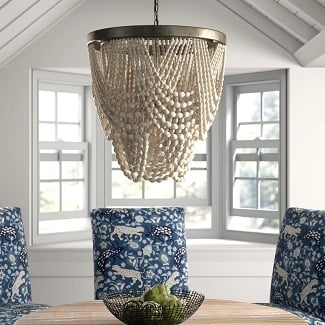 White-Hatfield-3-Light-Unique-Statement-Geometric-Chandelier 150+ Beach Chandeliers & Coastal Chandeliers