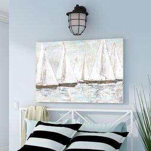 WhitePaintedSailboats-PrintonCanvas Beach Paintings & Coastal Paintings