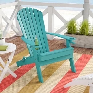 Aruba-Blue-Aryana-Plastic-Folding-Adirondack-Chair Adirondack Chairs For Sale