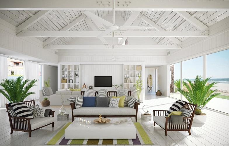 Beach-Style-Living-Room-2 101 Beach Themed Living Room Ideas