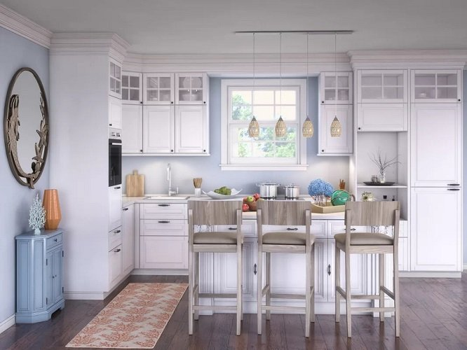 Beautful-Neutral-Coastal-Kitchen-by-by-Wayfair-in-Our-Customers-Homes Beach Kitchen Decor and Coastal Kitchen Decor