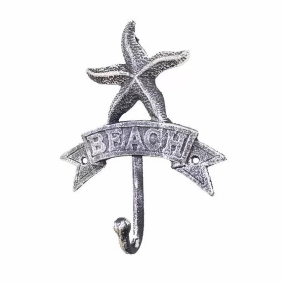 Black-Sharlyn-Starfish-Beach-Wall-Hook Beach Wall Hooks & Beach Towel Hooks
