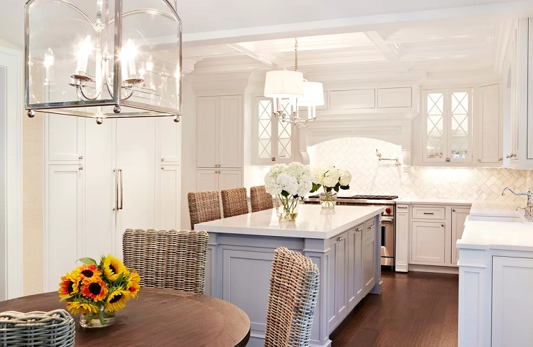 Coastal-Themed-Kitchen-by-Chango-Co.-in-Plandome-Dutch-Colonial Beach Kitchen Decor and Coastal Kitchen Decor