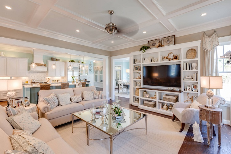 Coastal-Virginia-Idea-House-Holly-Road-by-Stephen-Alexander-Homes-Neighborhoods 101 Beach Themed Living Room Ideas