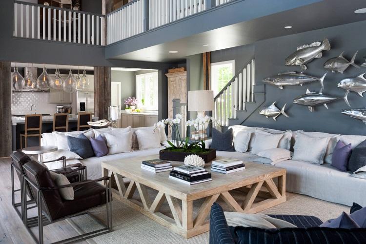 Custom-Home-Rehoboth-Beach-by-OPaL-LLC 101 Beach Themed Living Room Ideas