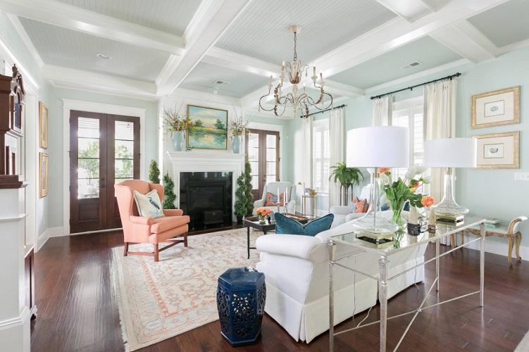 Daniel-Island-Home-by-CHD-Interiors 101 Beach Themed Living Room Ideas