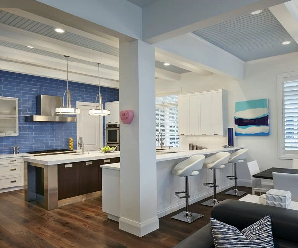 Elegant-Coastal-Themed-Kitchen-by-Susan-Lachance-Interior-Design-in-Portfolio Beach Kitchen Decor and Coastal Kitchen Decor