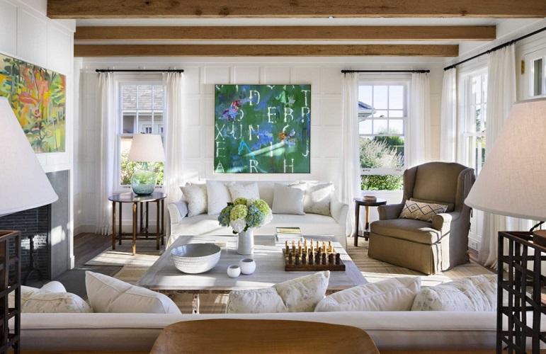 Nantucket-Beach-House-by-Ike-Kligerman-Barkley 101 Beach Themed Living Room Ideas