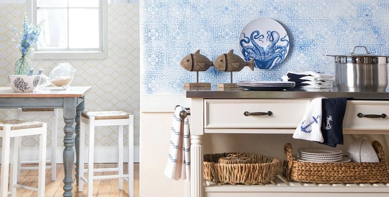 Nautical-Coastal-Kitchen-Design-by-Room-Ideas-in-Trending Beach Kitchen Decor and Coastal Kitchen Decor
