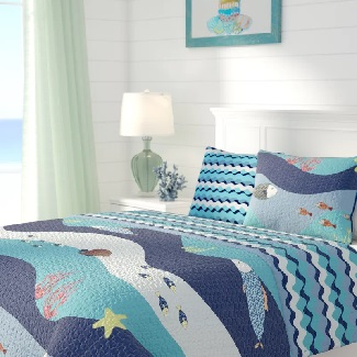 New-Haven-Cotton-Reversible-Quilt Beach Quilts & Nautical Quilts & Coastal Quilts