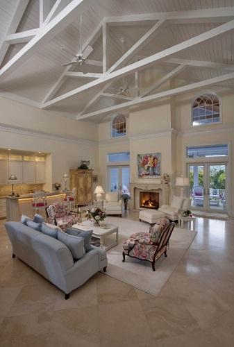 Olde-Naples-Beach-House-by-41-West 101 Beach Themed Living Room Ideas