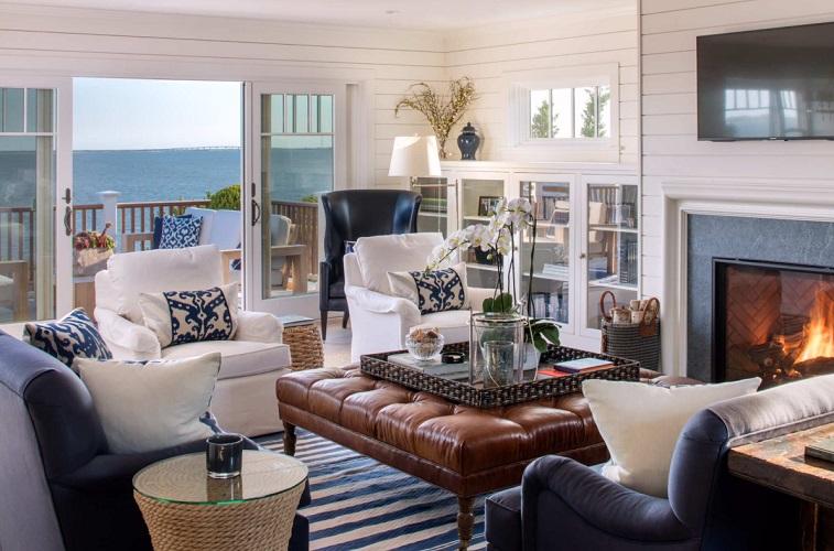 Southampton-Beach-House-by-Suk-Design-Group-LLP 101 Beach Themed Living Room Ideas