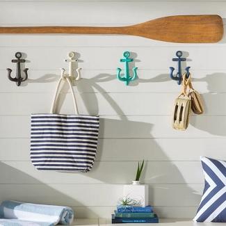 Stonehaven-Anchor-4-Piece-Metal-Wall-Hook-Set Beach Wall Hooks & Beach Towel Hooks