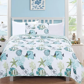Twin-Garcia-Reversible-Quilt-Set Best Beach Quilts & Nautical Quilts