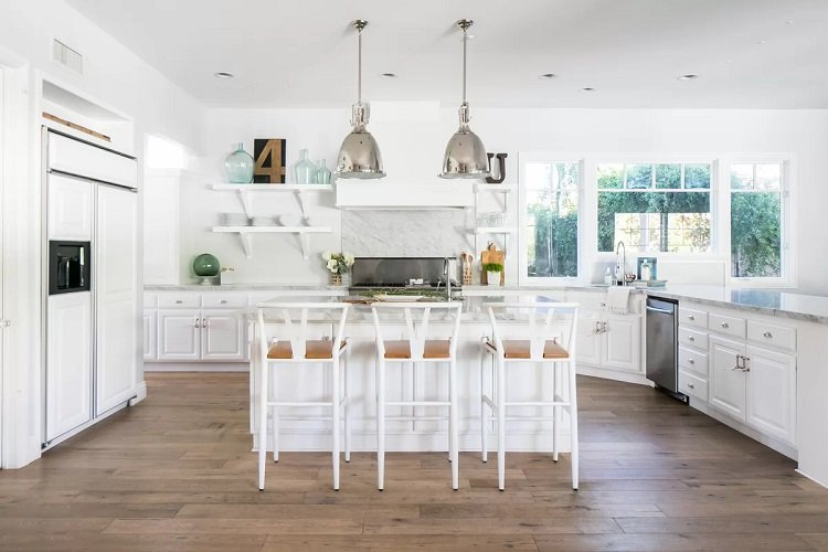 White-Coastal-Kitchen-Design-by-skout-in-Lee1 Beach Kitchen Decor and Coastal Kitchen Decor