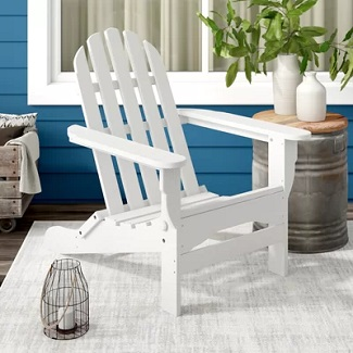 White-Hartington-Plastic-Folding-Adirondack-Chair Adirondack Chairs For Sale