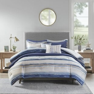 AdamsBlueMicrofiber8PieceComforterSet Nautical Bedding Sets & Nautical Bedspreads