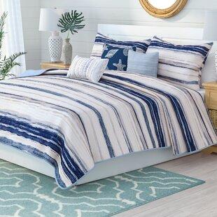 AdamsBlueMicrofiberReversible6PieceSet Nautical Bedding Sets & Nautical Bedspreads