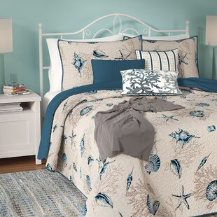 AgostiniLightBlue_DarkBlue_IvoryMicrofiberReversibleSet Nautical Bedding Sets & Nautical Bedspreads